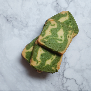 Two-Tone Matcha Cookies