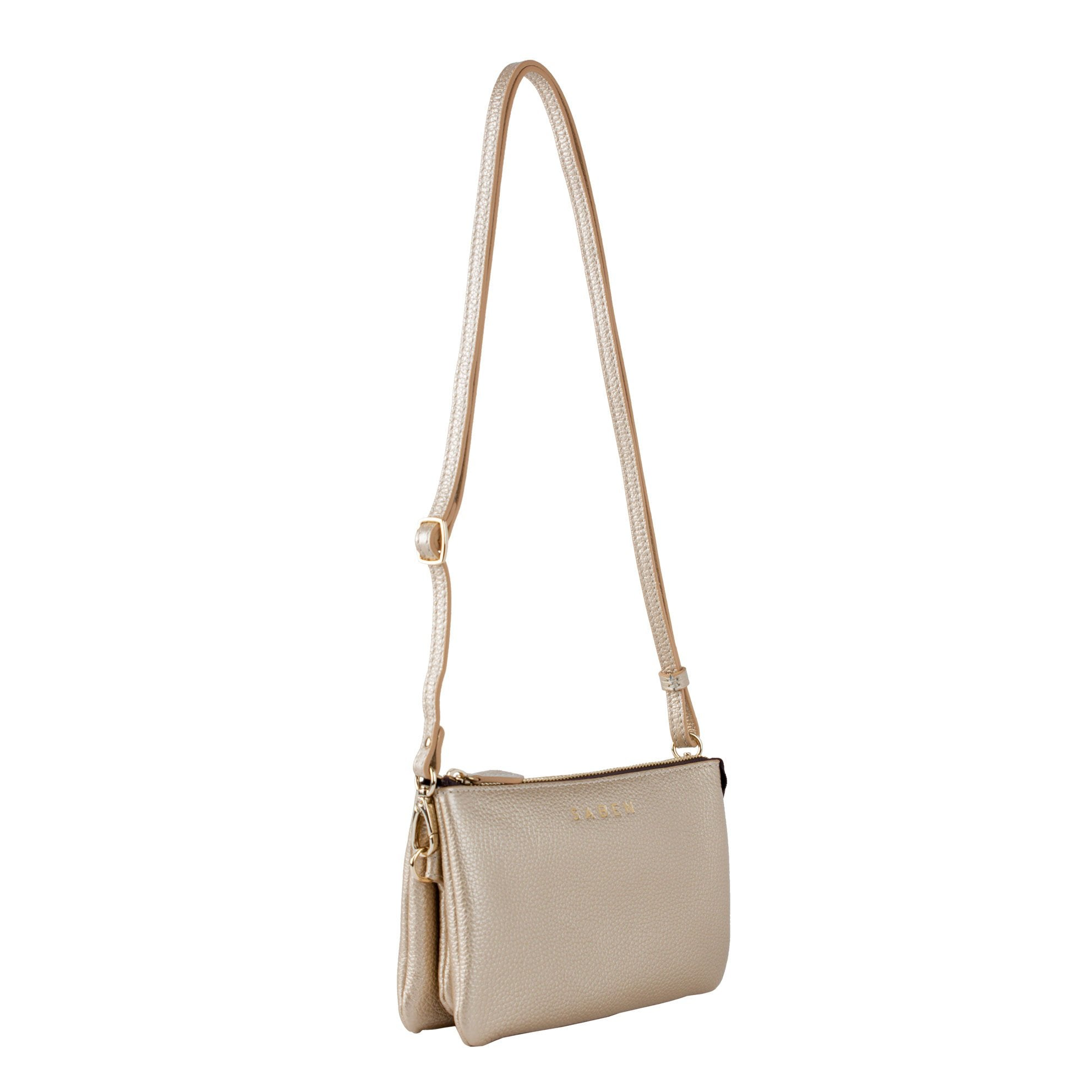 Tilly Crossbody Bag / Champagne Metallic