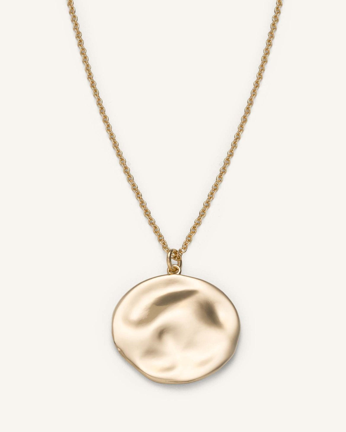Textured Coin Necklace / Gold