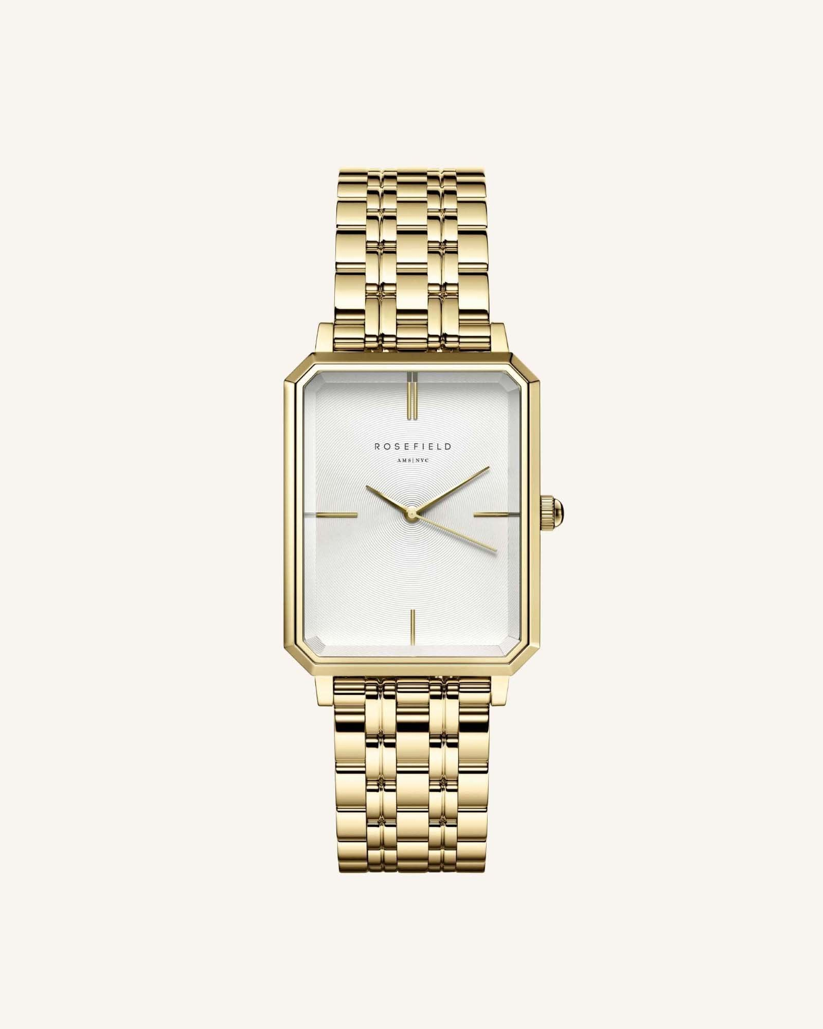 The Elles Watch / Gold Bracelet & White