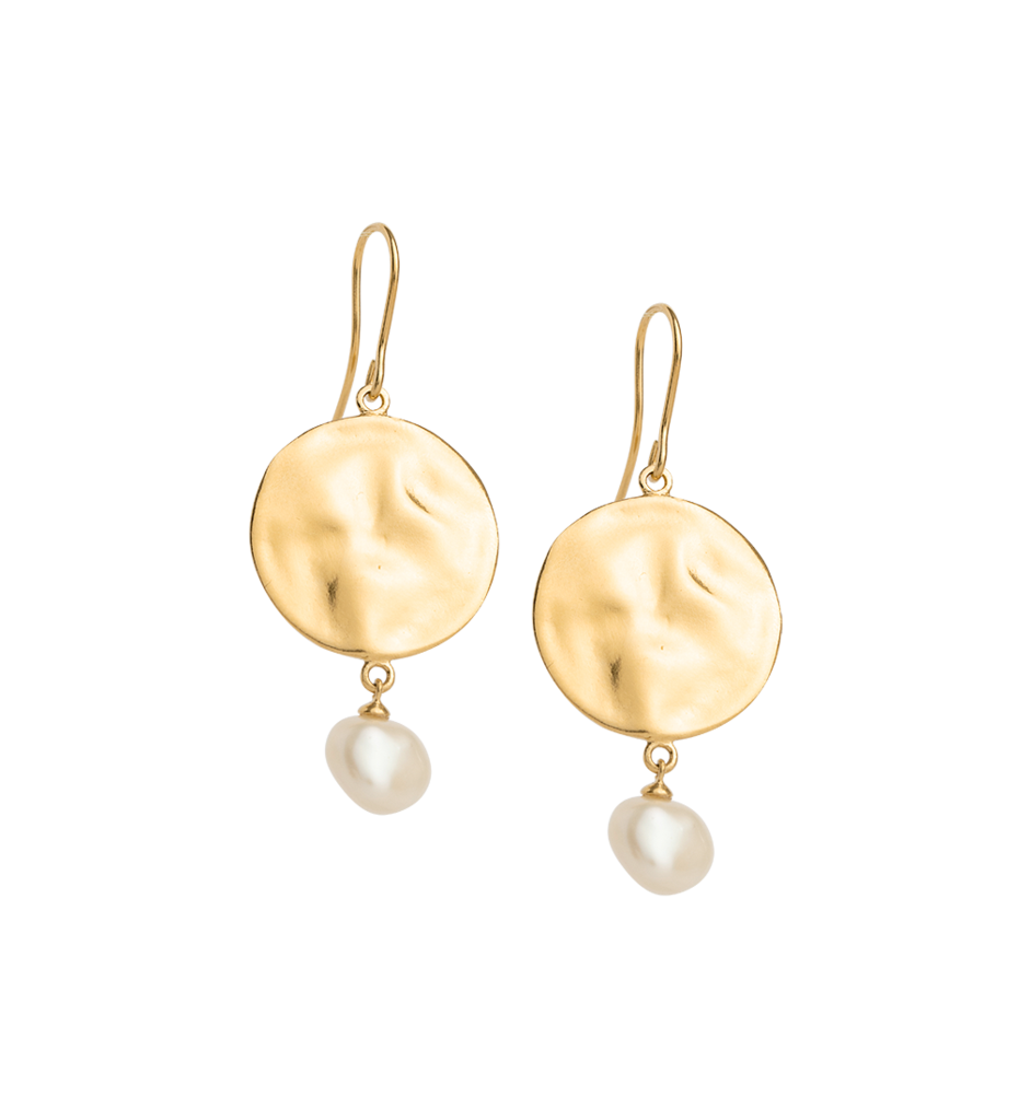 Tidal Pearl Earrings / Gold Plated