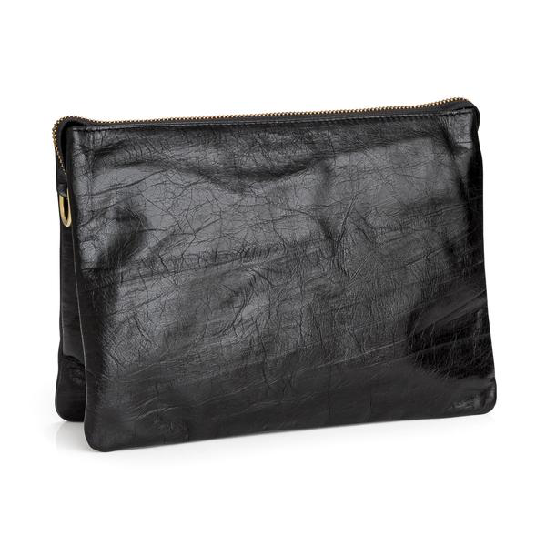 Everywhere Clutch / Black Crackle