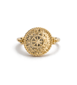 Treasure Coin Ring / Gold Plated