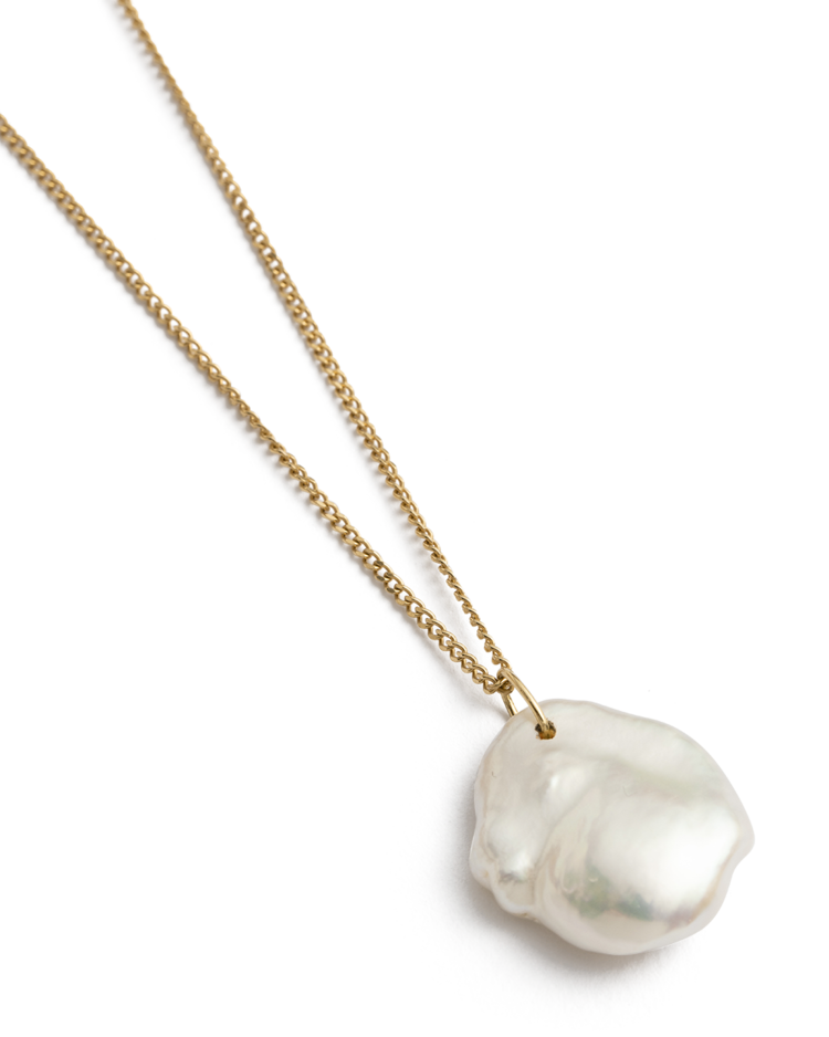 Keshi Pearl Necklace / 18k Gold Plated