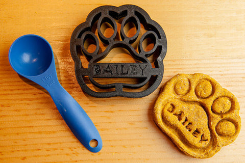 LARGE Dog Paw Personalized Cookie Cutter