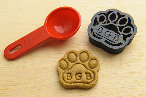 MINI Dog Paw Personalized Cookie Cutter