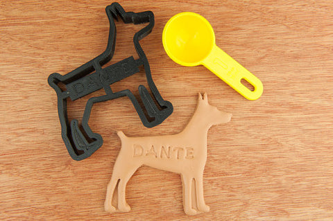 Doberman Pinscher Personalized Cookie Cutter