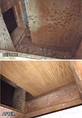 Before and after return air vent