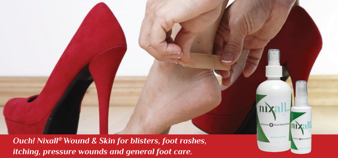Nixall® Wound + Skin Solution for blisters, itching, rashes and more.