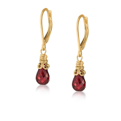 Anna Garnet Earrings