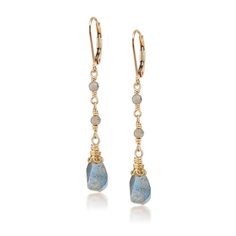 Anna Labradorite Dangle Earrings