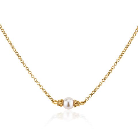 Anna Floating Pearl Necklace