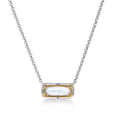 Anna Mother of Pearl Doublet Necklace