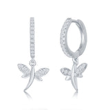 Dragonfly Huggie Hoops