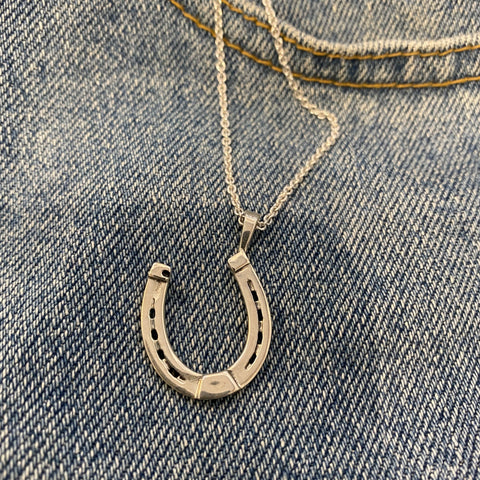 Horse Shoe Pendant in Sterling silver