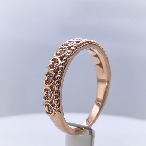 Rose Gold Stacking 'Crown' Ring