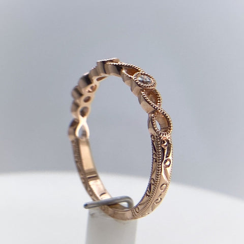 Rose Gold Stacking 'Dot' Ring