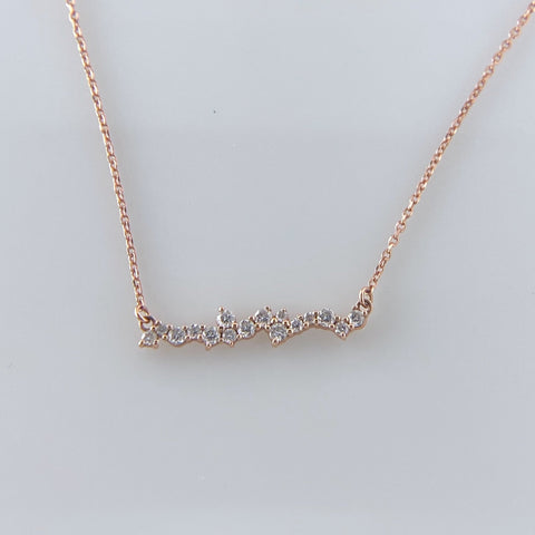 Rose Gold 'Wavy' Bar necklace