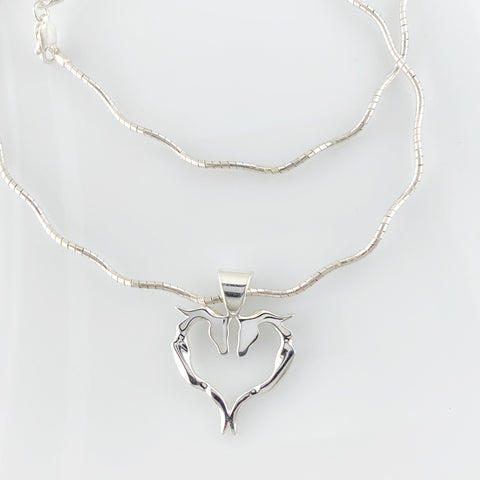 Ribbon Heart Pendant - Symmetrical