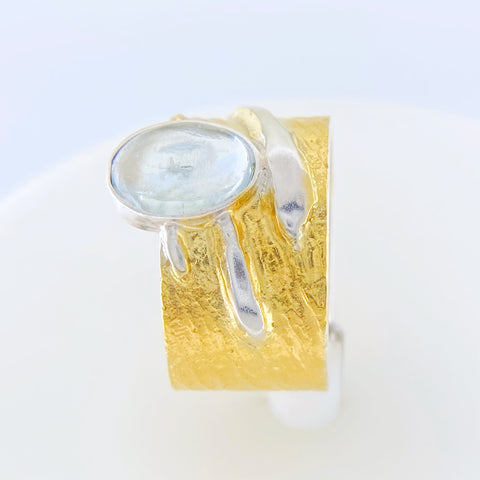 Eva Aquamarine Ring