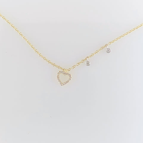 Dainty Heart Station Necklace