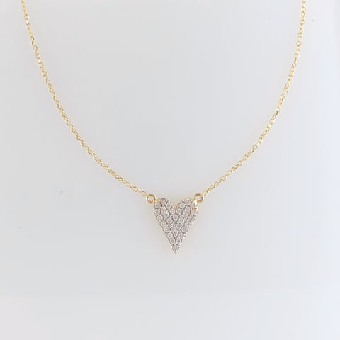 Gold Everyday Heart Necklace