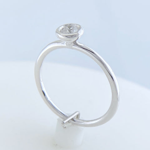 White Gold Bezel Set Ring