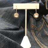 Quartz over Mother Of Pearl Earrings