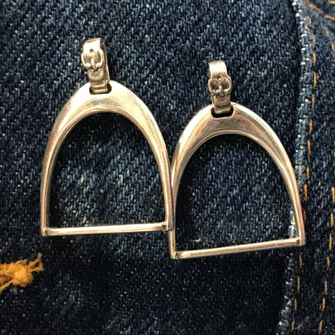 English Stirrup Post Earring