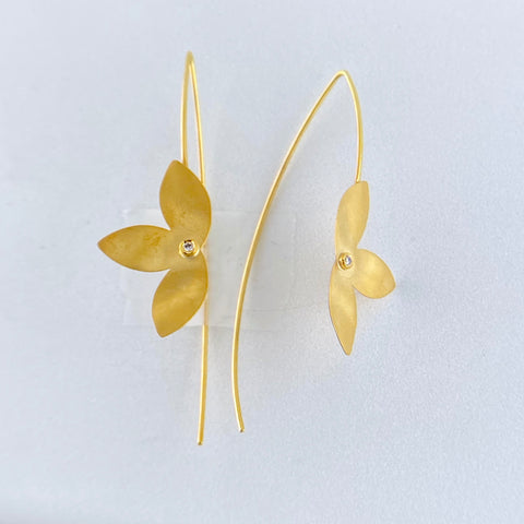 Three Petal Earrings