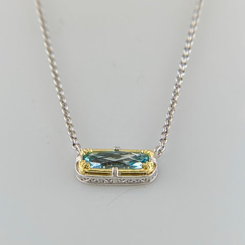 Anna Blue Topaz Necklace