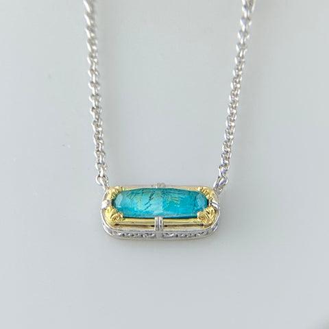Anna Chrysocolla Doublet Necklace