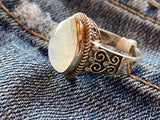 Moonstone Bezel Set Ring