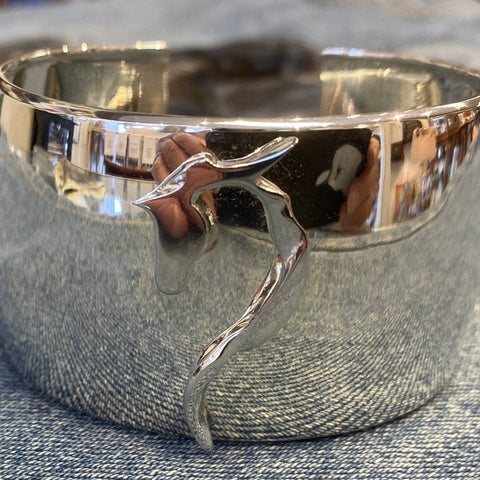 Ribbon Cuff Bracelet in Sterling Silver