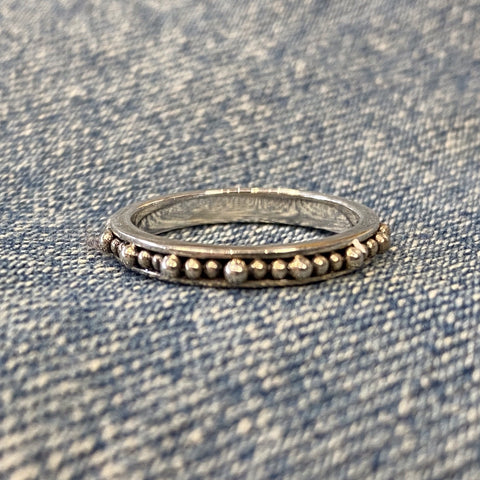 Hand Beaded Sterling Band
