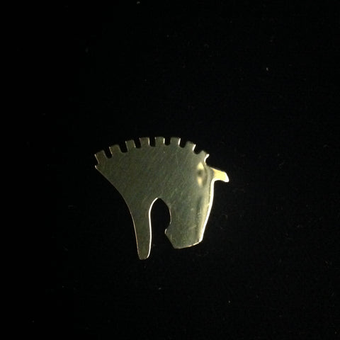 14K yellow gold Clydesdale Pendant