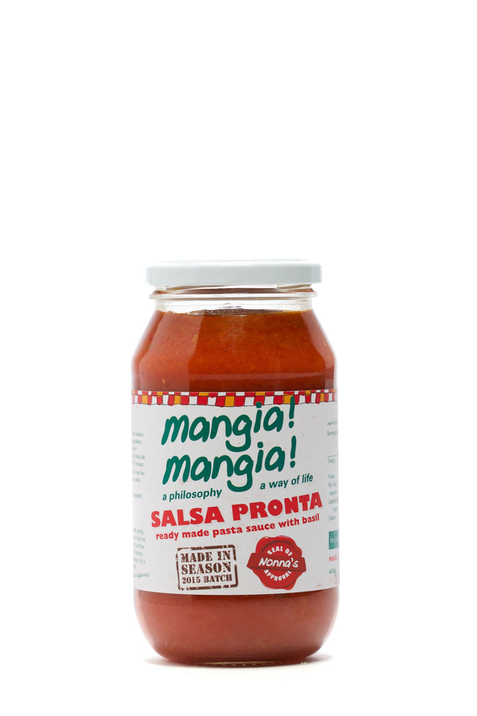 Sugo Pronto  (ready made pasta sauce with basil) 500 ml  Serves 6
