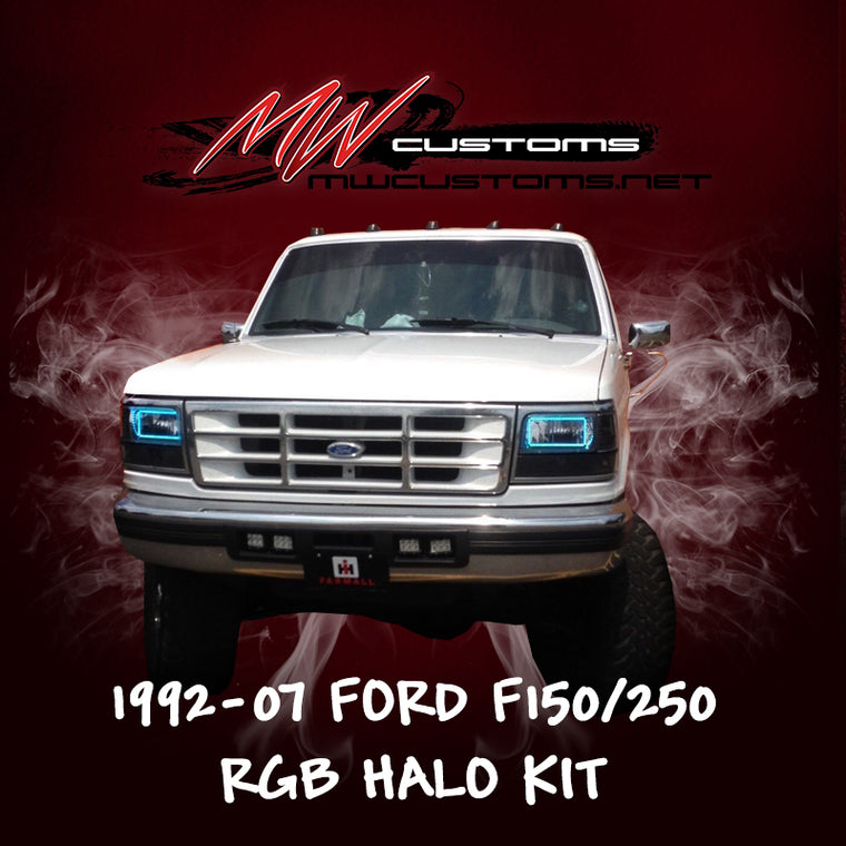 1992-97 FORD F-150/F250-350 RGB HALO KIT - MwCustoms