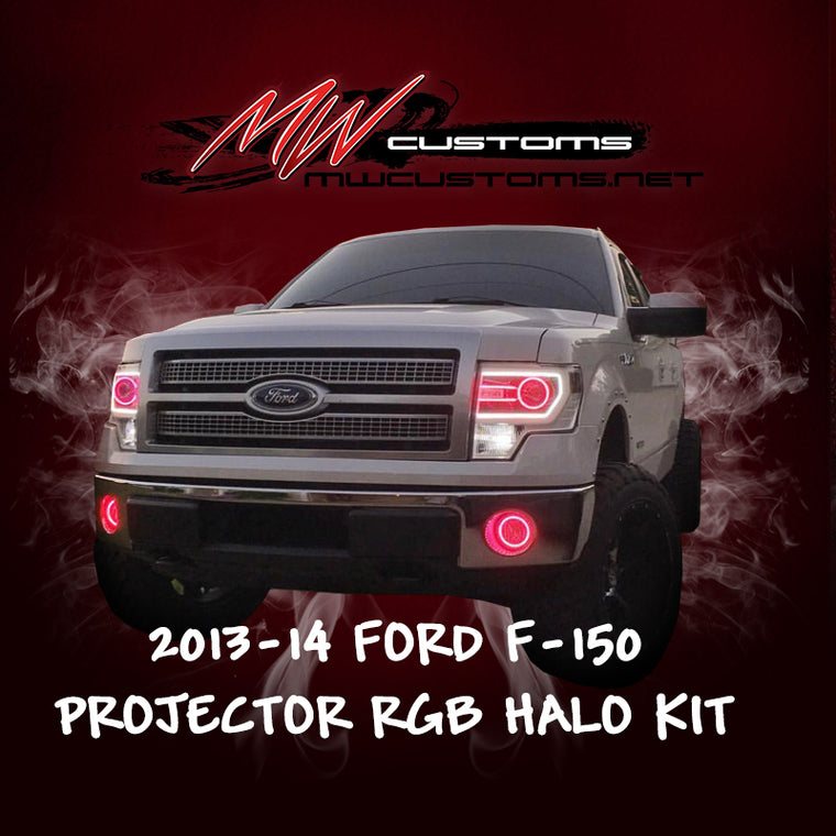 2013-14 FORD F-150 PROJECTOR STYLE RGB HALO KIT - MwCustoms