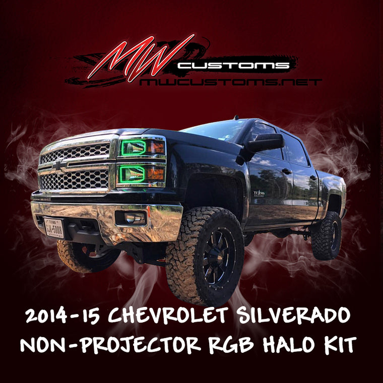 PRE-BUILT 2014-15 CHEVROLET SILVERADO HALOGEN - MwCustoms