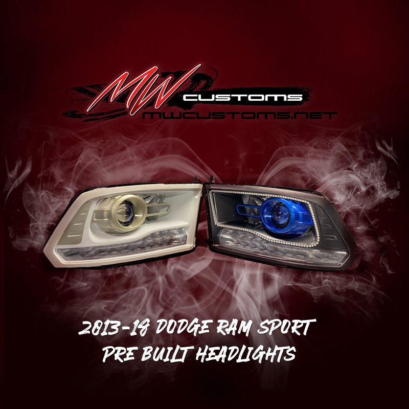 PRE-BUILT 2013-18 Dodge Ram OEM Projector Headlights - MwCustoms