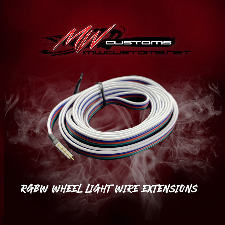 RGBW WHEEL LIGHT WIRE EXTENSIONS- 8FT