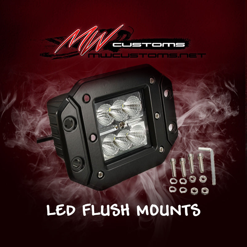 3X3 FLUSH MOUNTS (PAIR) - MwCustoms