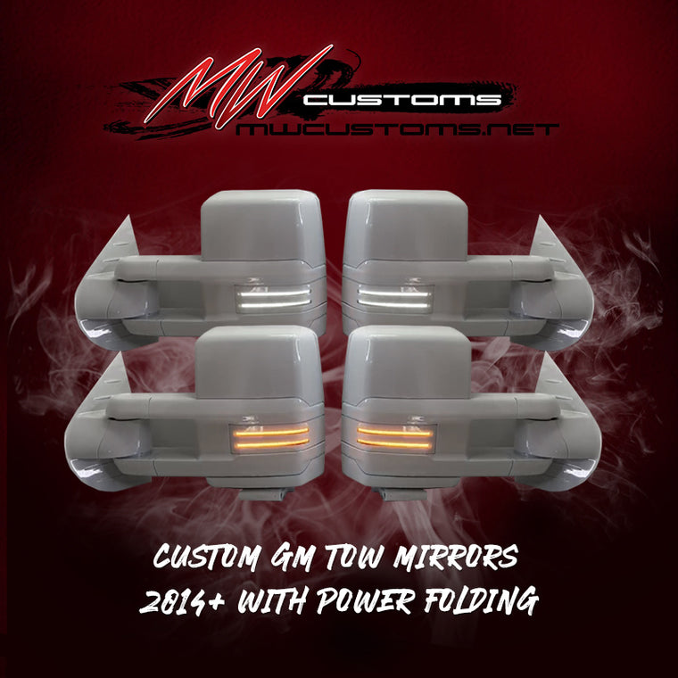 CUSTOM GM TOW MIRRORS 2014+ WITH POWER FOLDING