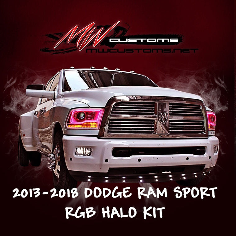 2013-17 DODGE RAM SPORT RGB HALO KIT - MwCustoms