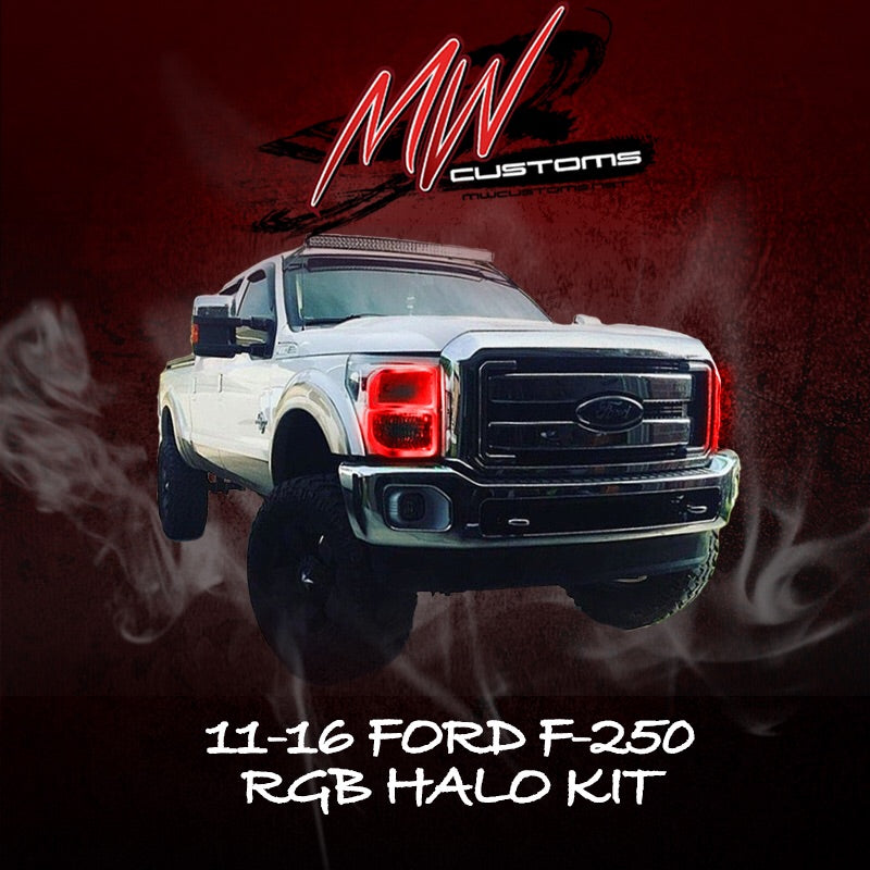 2011-16 FORD F250-350 RGB HALO KIT - MwCustoms