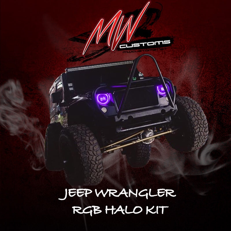 1997-17 JEEP WRANGLER RGB HALO KIT - MwCustoms