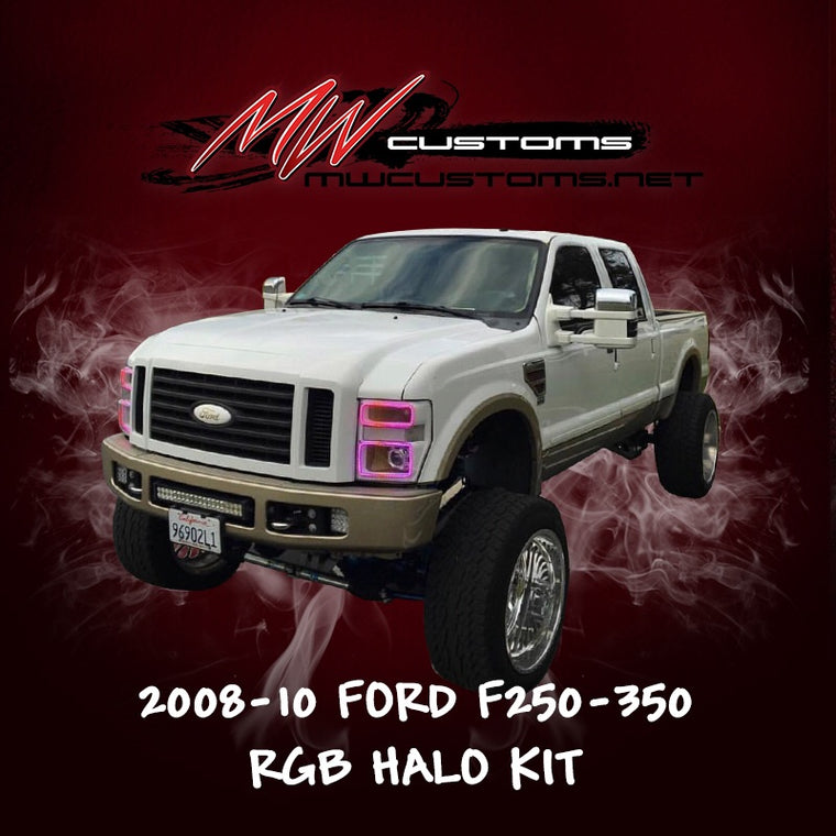 2008-10 FORD F250-350 RGB HALO KIT - MwCustoms