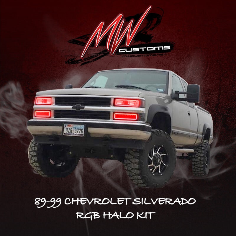 1988-99 GMC/CHEVROLET OBS RGB HALO KIT (TOP AND BOTTOM HALO INCLUDED) - MwCustoms