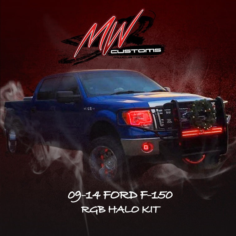 2009-14 FORD F-150 RGB HALO KIT - MwCustoms